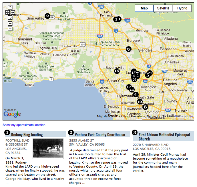 Mapping the 1992 la uprising sciox Gallery