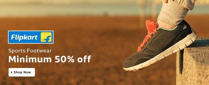 Minimum 50% Off On Sports Footwear... Grab The Deal @ http://goosedeals.com/home/details/flipkart/103316.html
