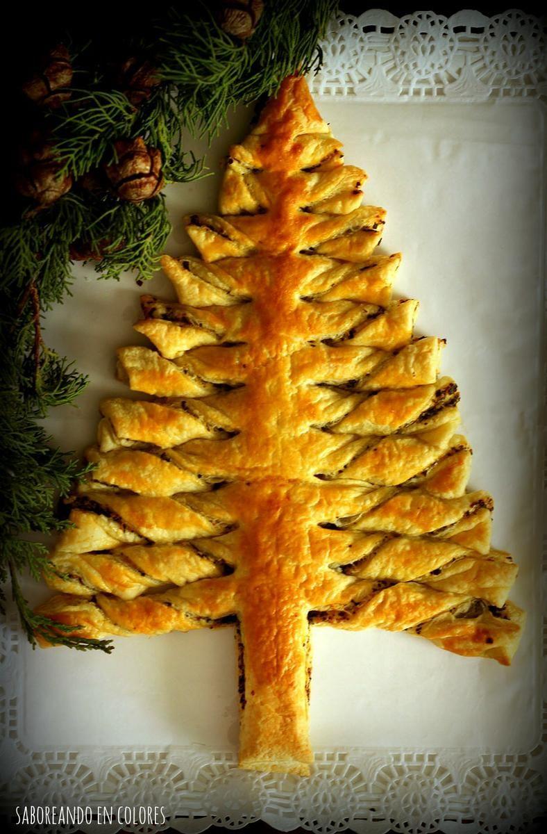 Una receta perfecta para servir en Nochebuena o Navidad...¡porque tiene forma de abeto navideño! Y, además, está buenísima. Una receta del blog SABOREANDO EN COLORES.