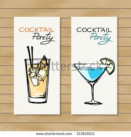 Hand Drawn Illustration Of Cocktail Cocktail Concept Design