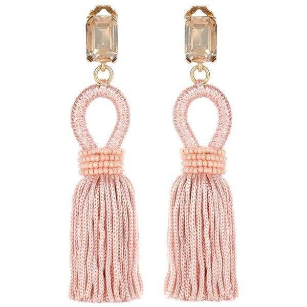 Oscar De La Renta Crystal-embellished petal clip-on earrings ye0jN
