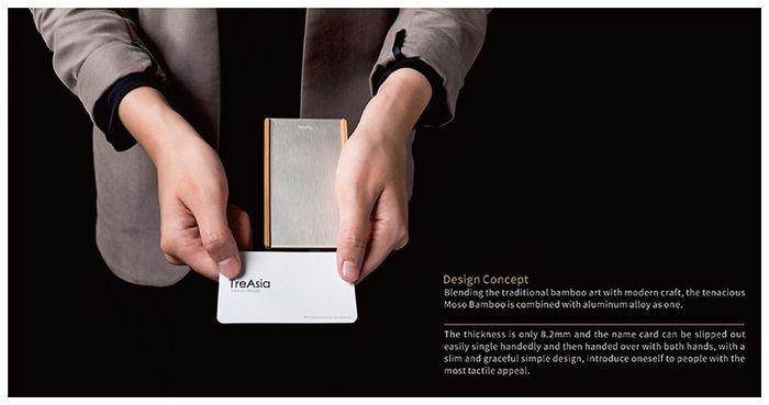 TreAsia|SLIDE-Bamboo Card Case 燻竹名片盒(鈦)-有. 設計uDesign