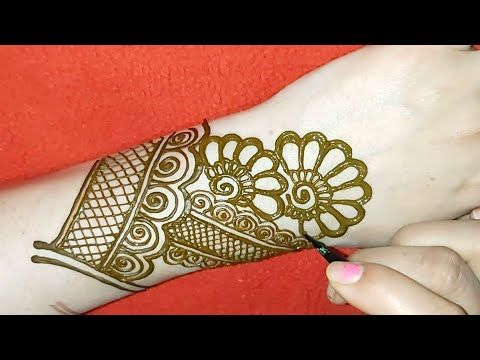 Very Beautiful Arabic Mehndi Design For back Hand / Mehndi designs / Easy Mehndi