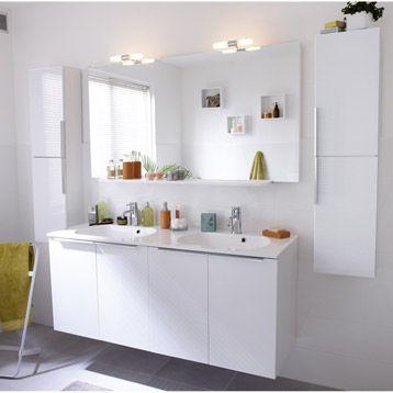 Meuble de salle de bains remix blanc leroy merlin - Meubles de salle de bain leroy merlin ...