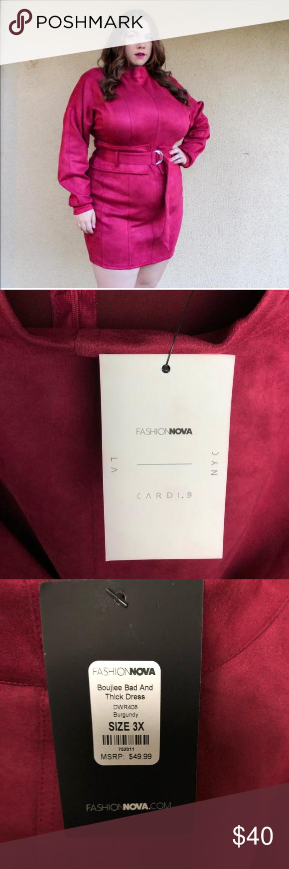 Bad & Thick Cardi B Dress NWT Cardi b, Fashion nova