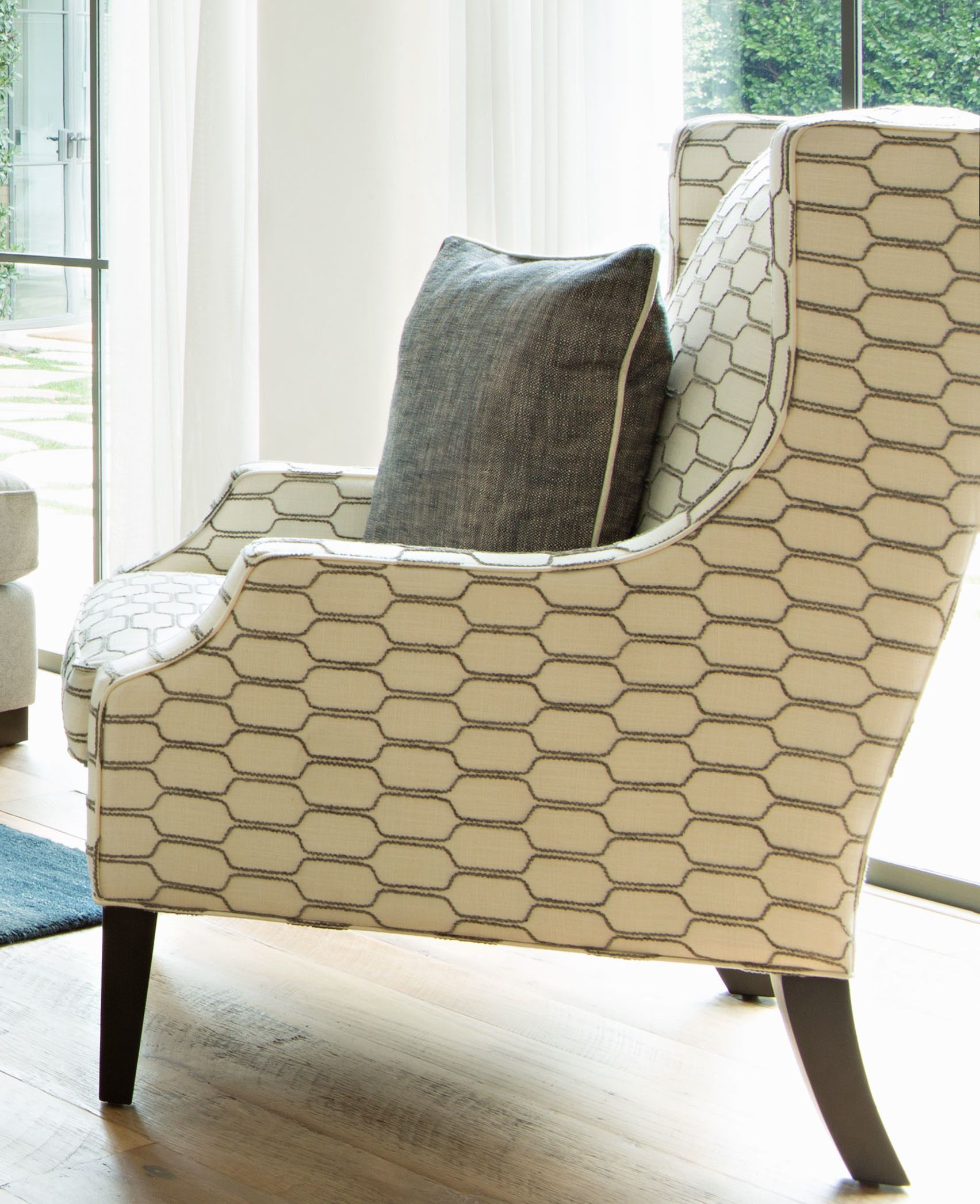 ... Classic, This Wingback Chair Fashionably Fuses Whatu0027s Fresh And Modern  With Whatu0027s Tasteful And Timeless. The Seatu0027s Stately Silhouette Is  Upholstered ... Great Pictures
