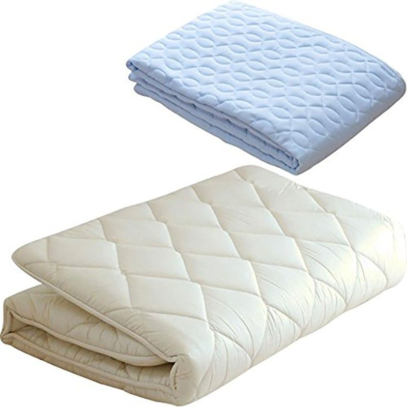 Japanese Traditional Futon Mattress Light Blue Cover 100 Made In Japan