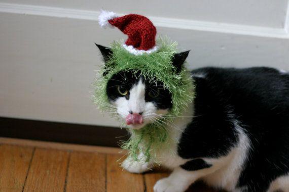 The Grinch Cat Hat Christmas Dr Seuss Pet Costume by scooterKnits $18.00 & The Grinch Cat Hat Christmas Dr Seuss Pet Costume by scooterKnits ...