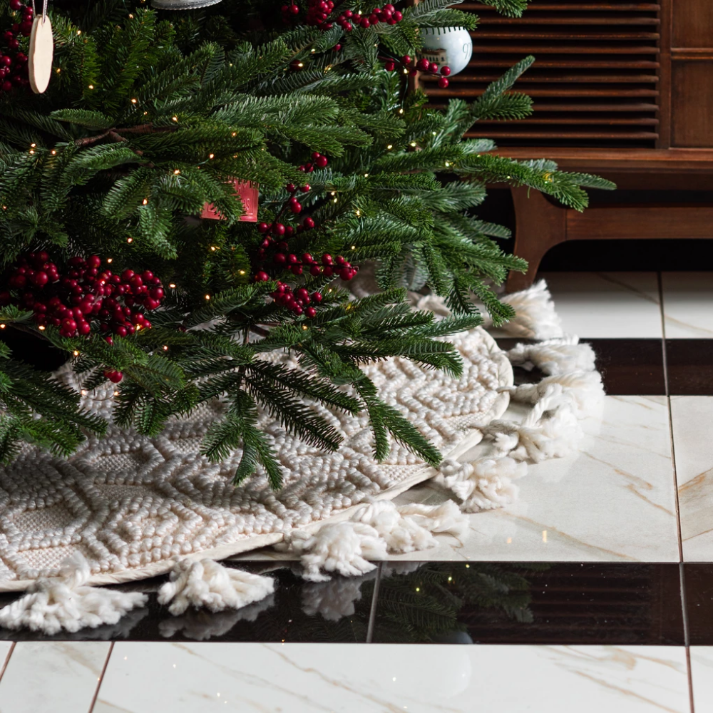 Hadley Tassel Tree Skirt Holiday Decor Christmas Organization Christmas Inspiration