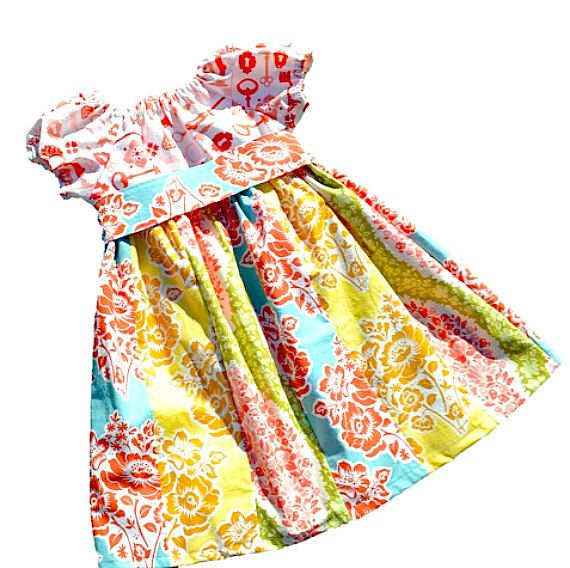 Girls Dress Pattern PDF Sewing Pattern, Peasant Dress Pattern, Baby Dress, Girls Sewing Pattern, Patterns...The Hailey Peasant Dress 9m-12. $6.00, via Etsy.