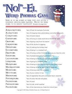 NO!-el Weird Phobia Christmas trivia game | Xmas | Pinterest ...