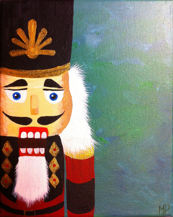 The Nutcracker 10 X 8 Acrylic On Canvas Panel Ready To Hang By Michael H Prosper Christmas Canvas Christmas Paintings On Canvas Christmas Paintings