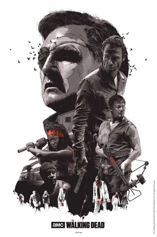 The Walking Dead. | This Artist Designs Brilliant Alternative Posters For Films And TV Series