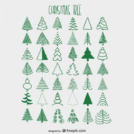 Use as colouring guide for xmas tree punch instead of stamping