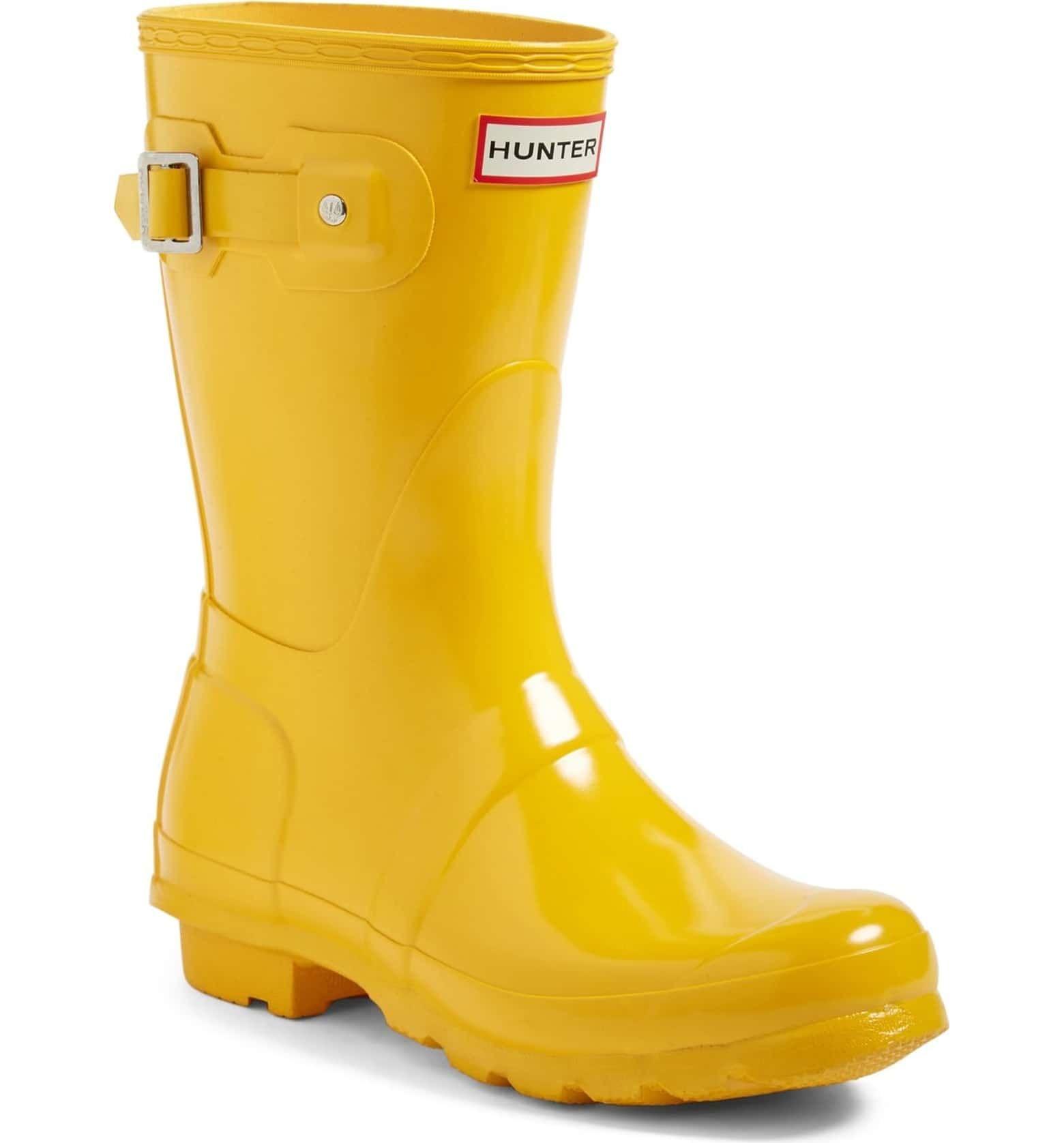 Yellow rain boots, Hunter boots, Rain boots
