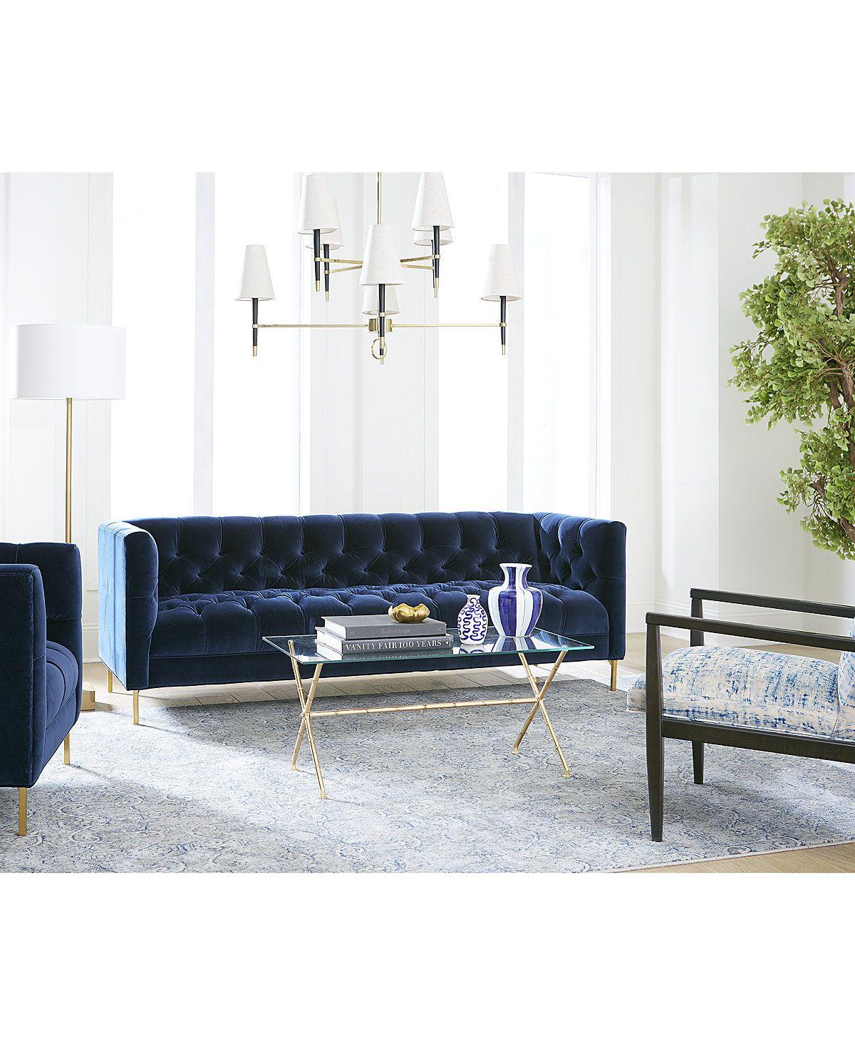 Haiden Velvet Sofa Only At Macy S Furniture Macy S Velvet