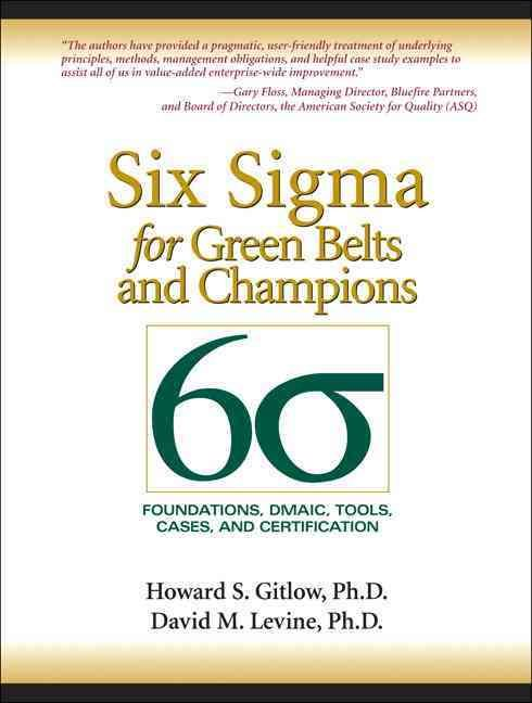 Six Sigma for Belts and Champions Foundations, Dmaic, Tools - certification examples