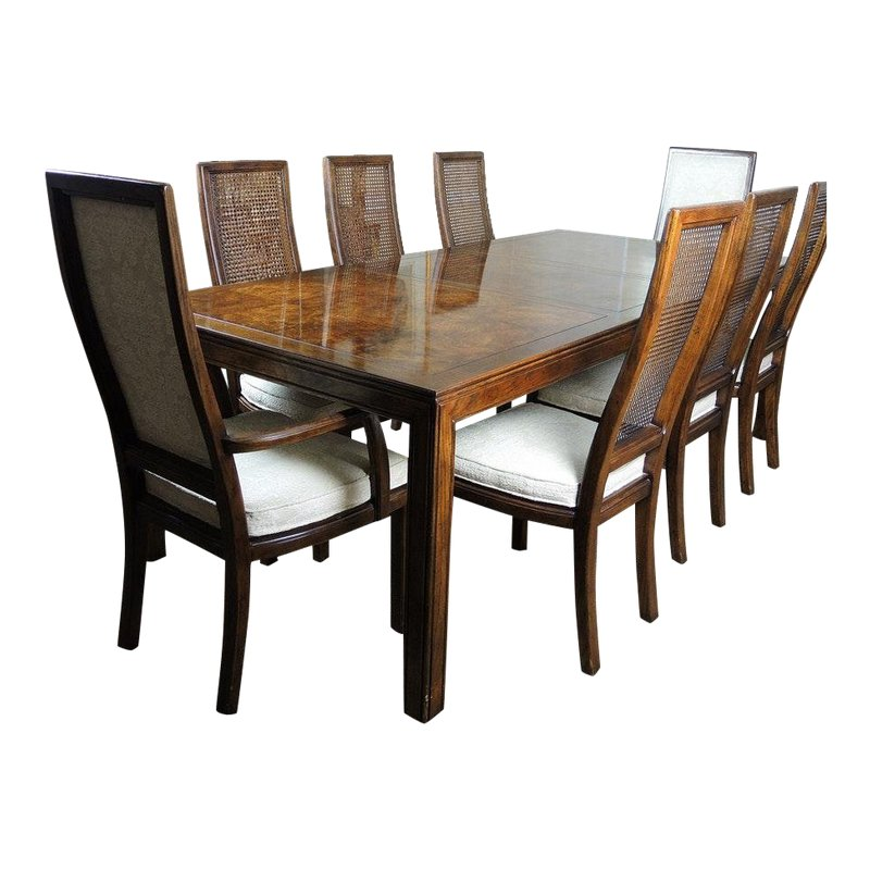 Henredon Scene One Dining Table With Eight Chairs Dining Table