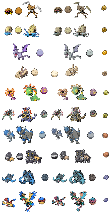 Pokemon fossils by brendanbass pokemon fossil pokemon - Fossile pokemon diamant ...