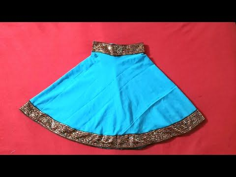 65a52ee6cb662e How to cut and stitch baby umbrella cut lehenga - YouTube