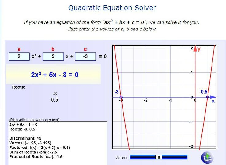Quadratic Equation Solver Quadratics Quadratic Equation Online Math