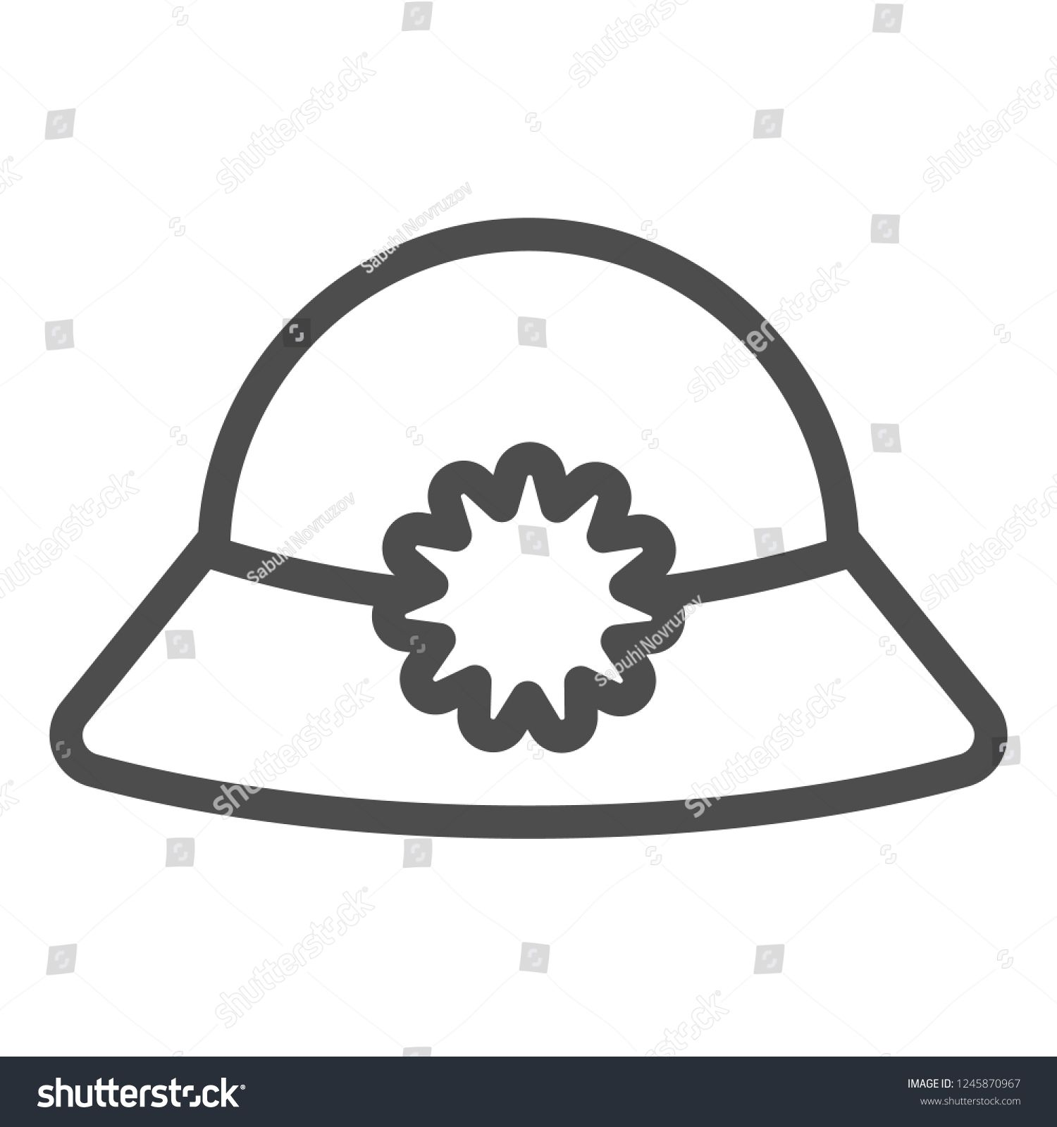 Women S Hat Line Icon Summer Hat Vector Illustration Isolated On White Cap Outline Style Design Designed For Web And Ap Summer Hats Hats For Women Line Icon