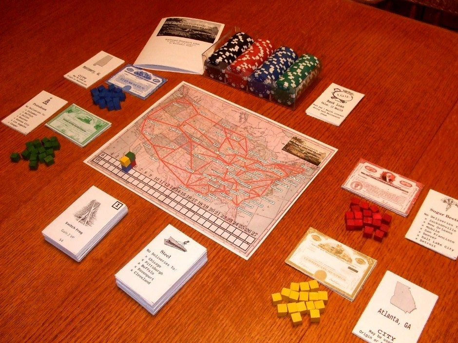 Railroad Dispatch USA, another board game based on plans