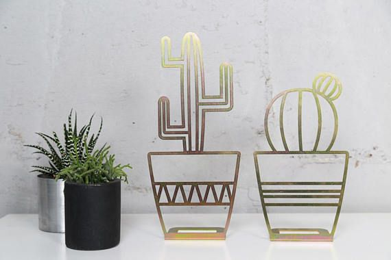 Gold Cactus, Decor Stand, Art Home Decor, Cactus Decor, Metal Decor, Metal Home Decor, Cactus Plant, Living Room Decor, New Home Gift is part of Cactus decor Living Room - GlyphsStudio Thank you for visiting our shop, please contact me with any question  ♥