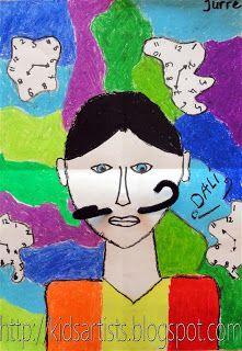 Kids Artists: grade 6: Salvador Dali self-portraits with