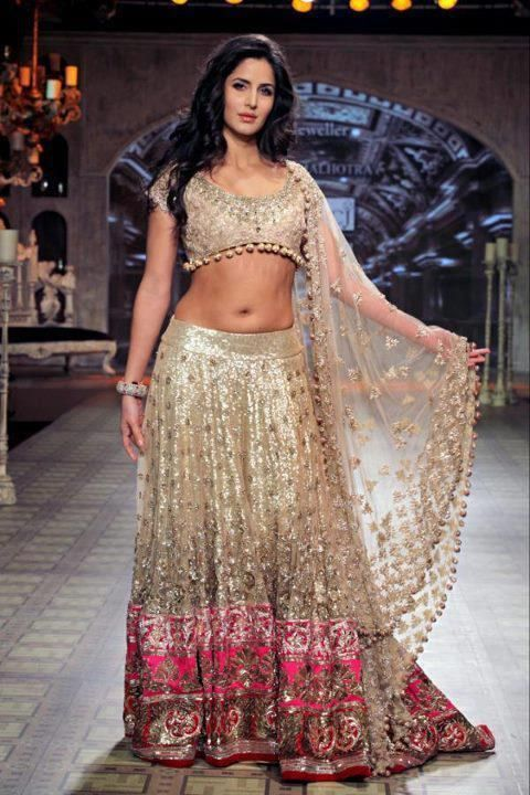 katrina kaif in a beautiful baby pink lehenga