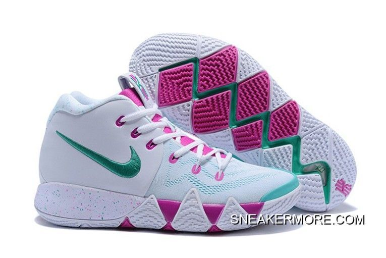 0ad9406d6604 Nike Kyrie 4 White Noble Red-Mint Green Latest