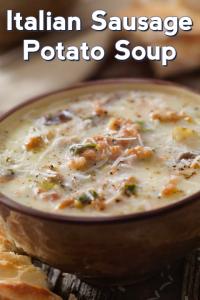 Creamy Italian Sausage And Potato Soup #sausagepotatoes Creamy Italian Sausage A… – Çorba Tarifleri