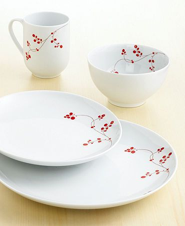 Gourmet Basics by Mikasa Dinnerware, Red Berry 16 Piece Set