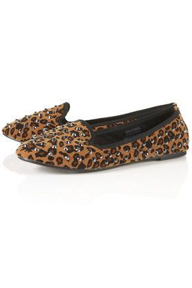 ac671010a212 VECTRA5 Leopard Stud Slippers | Clothes | Studded loafers, Shoes ...