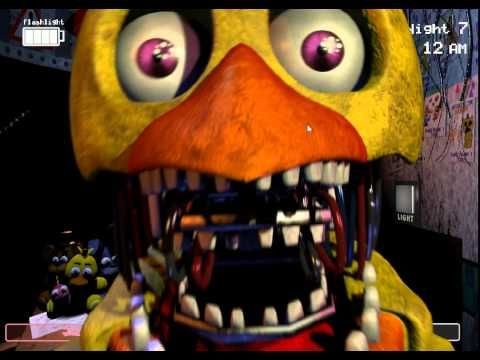 FNAF 2 Old Chica (Me)! Attack Slowed Down! - YouTube