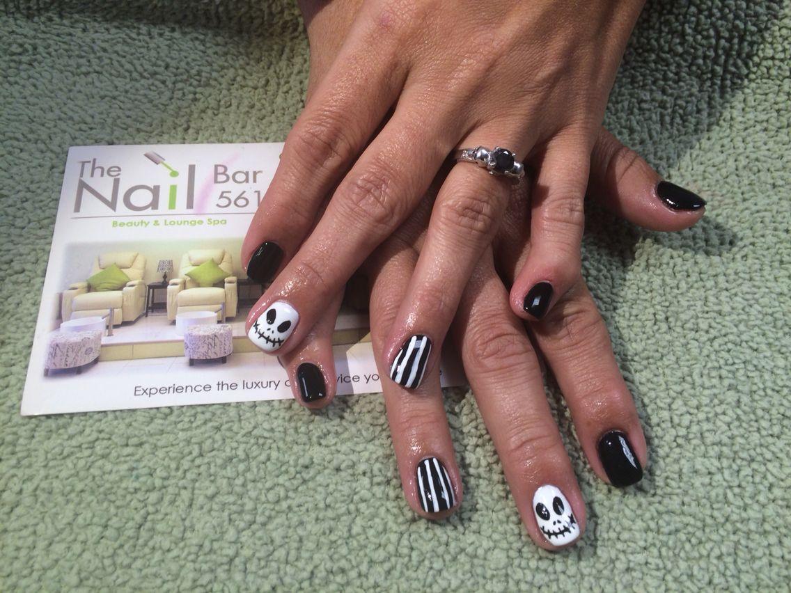 Hard gel and nail art by me at the nail bar 561