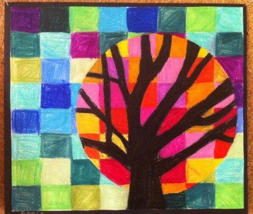 Suite du cercle chromatique - couleurs chaudes /froides | arbre ...
