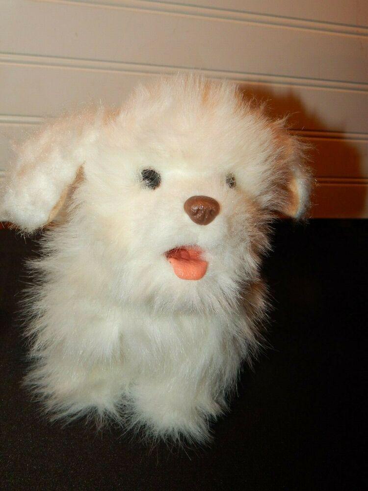 Hasbro Furreal Friends White Walking Barking Puppy Dog 9 Plush