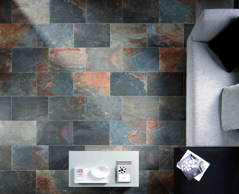 Slate Stone Julie : Ceramic slate tile natural multicolor porcelain