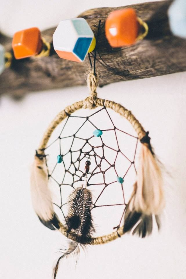 My uncle is making us a dream catcher to hang in the baby's room.