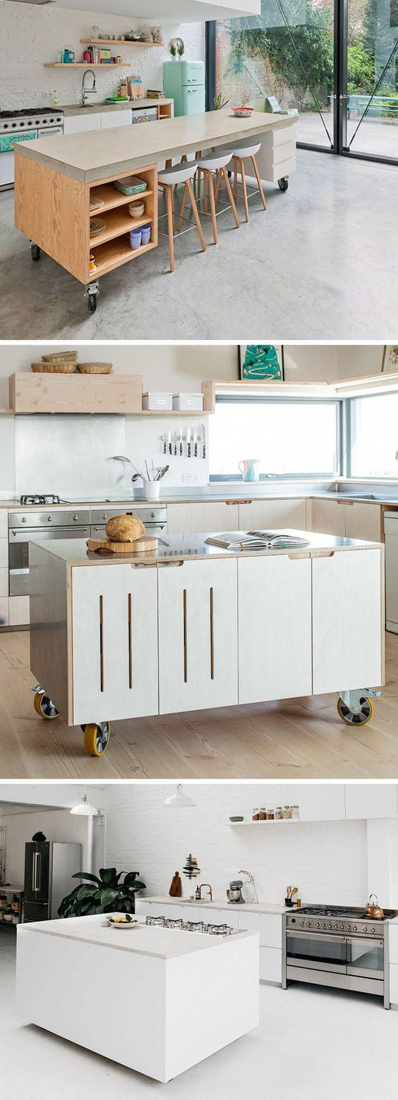 here are 8 examples of movable kitchen islands with wheels in a variety of materials that on outdoor kitchen on wheels id=16597