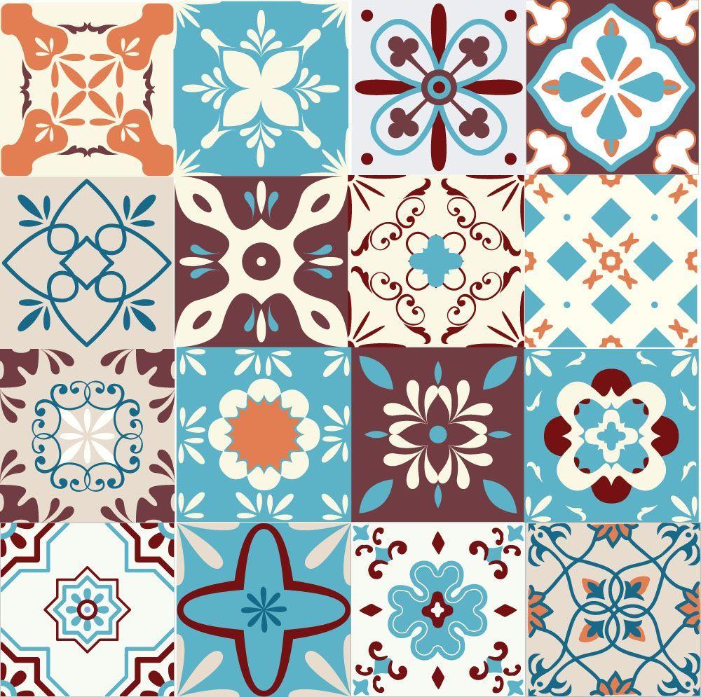 Adesivo de Azulejo Hidrulico  6013  Adesivos de