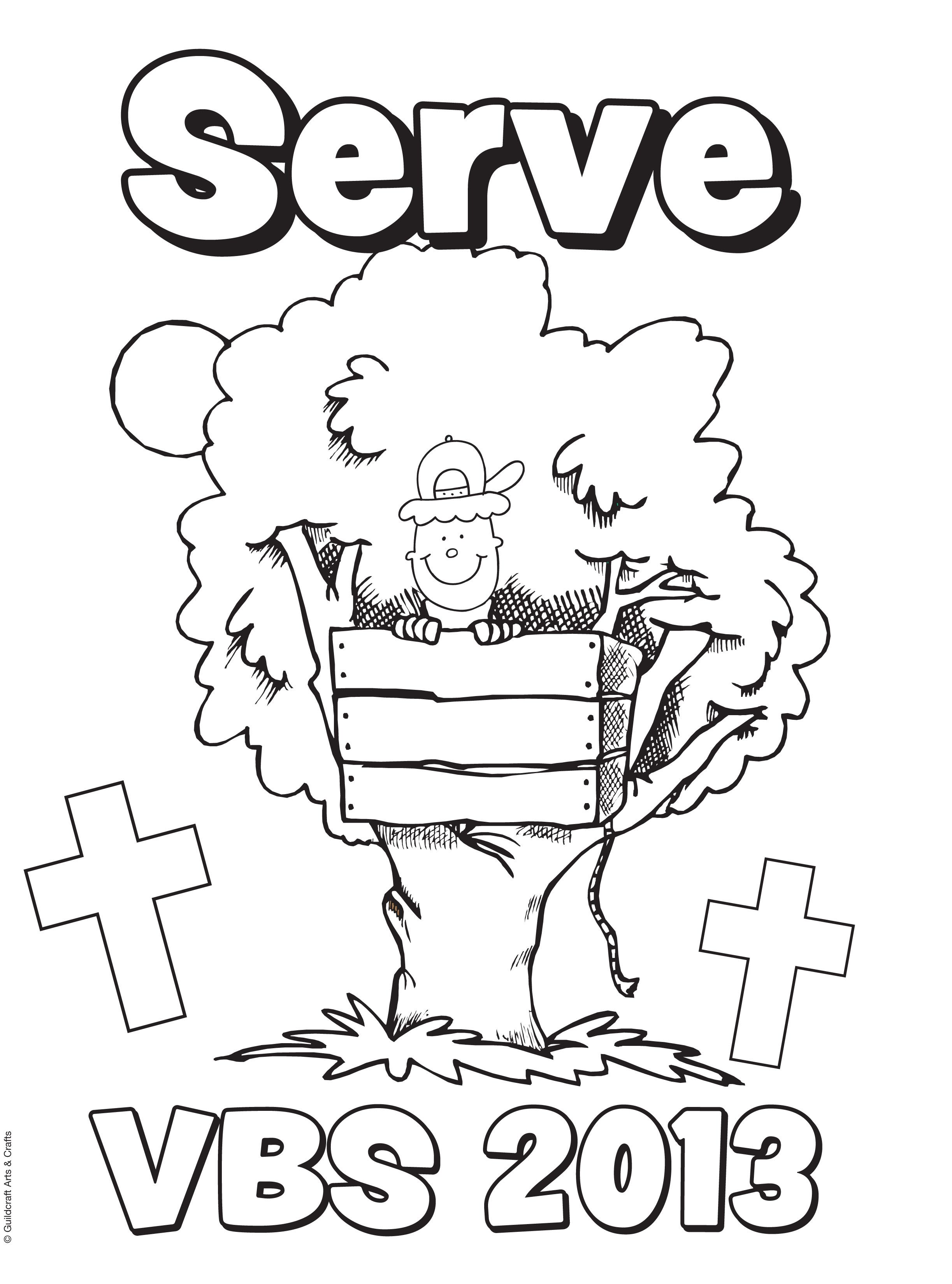 Free Bible Camp VBS 2013 coloring sheet from Guildcraft