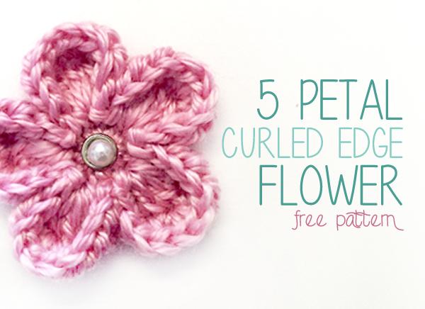 5 petal curled edge crochet flower free crochet flower pattern 5 petal curled edge crochet flower free crochet flower pattern dt1010fo