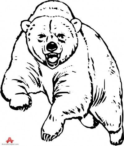 Bear Black And White Free Bear Clipart 1 Page Of Clip Art Bear Drawing Bear Stencil Drawings