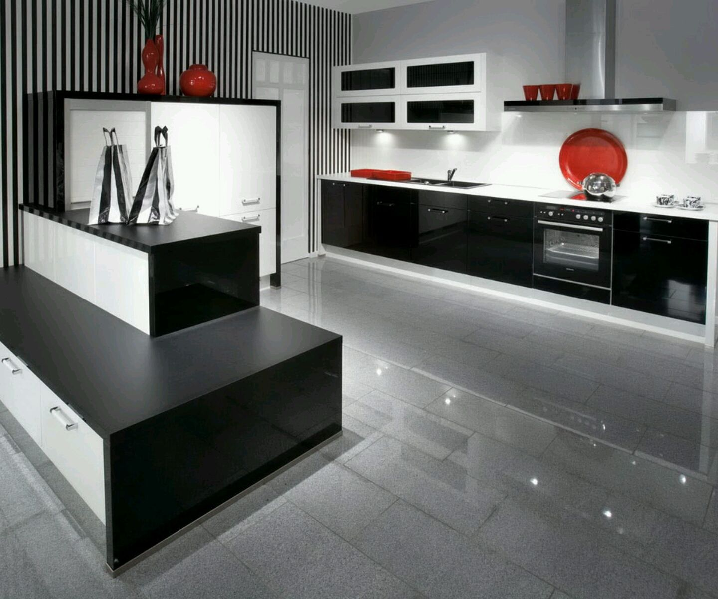 Modern Kitchen Cabinets. Adorable Modern Kitchen Cabinets Colors ...
