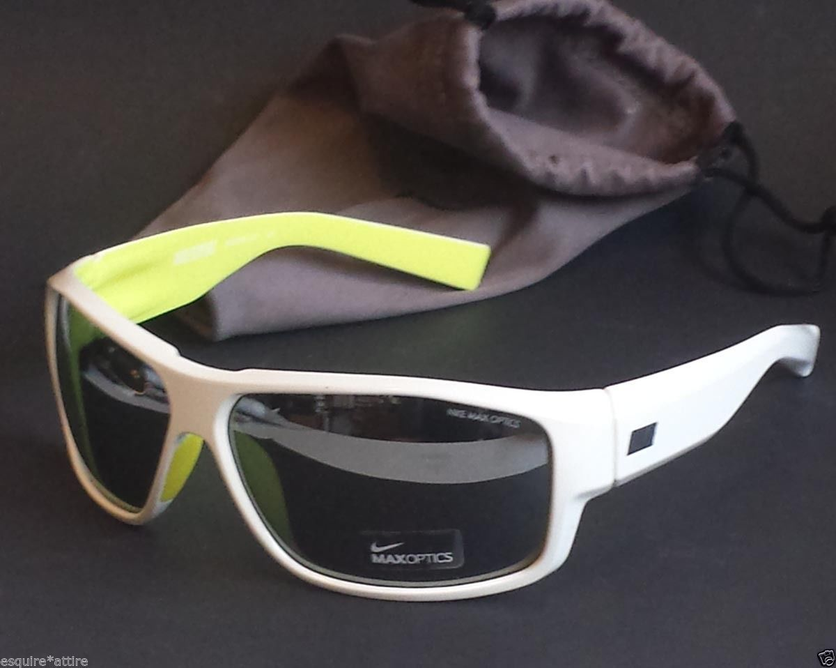 abf5a6b56df3  NIKE sport sunglasses NIKE EXPERT white frame mirrored lens NWT with black  pouch visit our