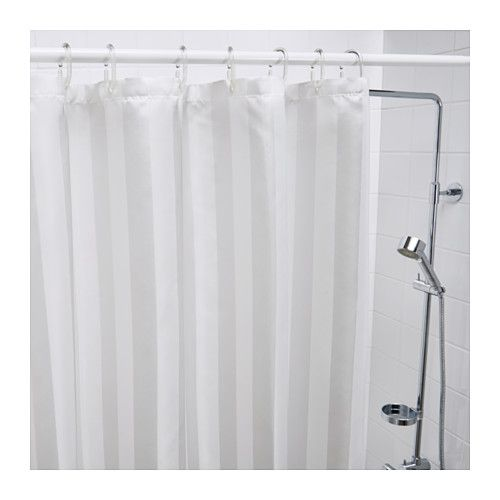 Saltgrund Shower Curtain Ikea Two Sided Woven Polyester Which Gives A Soft Fall And Decorative Pattern On Both Sides
