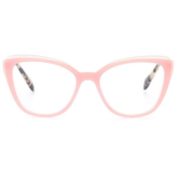 a8f346af50b Miu Miu Cat-Eye Glasses ( 325) ❤ liked on Polyvore featuring accessories