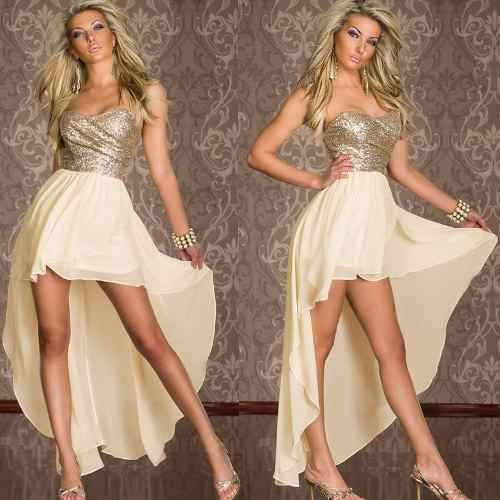 Vestido curto e longo